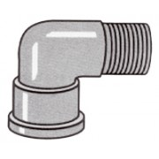 3 inch F Thread to 3 inch M - Street Elbow 45 Degree