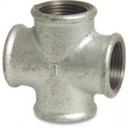"1.1/4"" Galvanised Cross FxFxF"