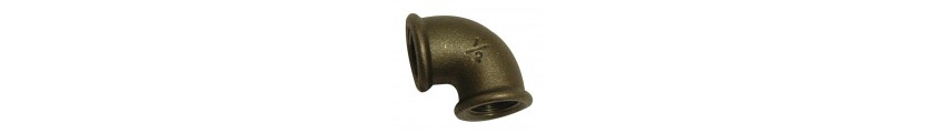 Black Iron 90° Elbows FxF