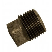 """1"""" Black Iron Plain Plug"""