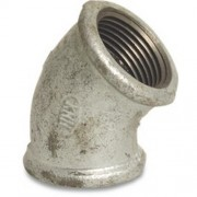 "1/2"" Galvanised Elbow 45 FxF"