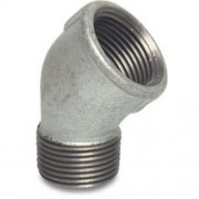 "3"" Galvanised Elbow 45 MxF"