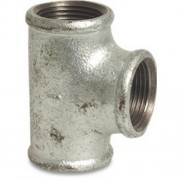"1.1/4 X 1.1/4 X 1/2"" Galvanised Reducing Tee"