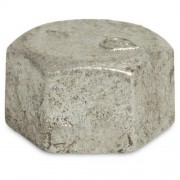 "1.1/4"" Galvanised Hex Cap"