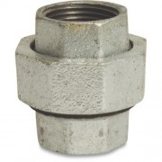 "1/2"" Galvanised Straight Union FxF"