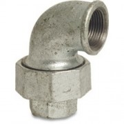 "3"" Galvanised Union Elbow FxF"
