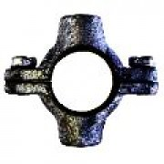 """100MM (4"""") Black Iron Double Pipe Ring"""