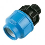 "75mm x 2"" PP Male Union Adaptor for MDPE Pipe"