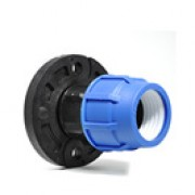 "90mm x 3"" PP Flange Adaptor for MDPE Pipe"