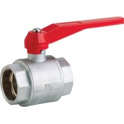 "Low Pressure Plated Brass Ball Valve 2"" BSP Female x 2"" BSP Female 20 Bar Lever Handle"
