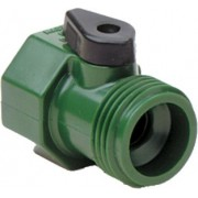 "Garden Hose Shut-Off Tap 3/4"" Male x 3/4"" Female Garden Hose Thread"