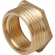 Brass Hexagonal Bush 1/4 X 1/8""