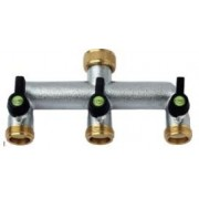 3 Way Connector with Independent and Adjustable Flow Path 3/4 BSP Female
