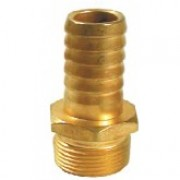 Brass Hose Fitting 1 inch Male x 3/4 inch Hose