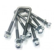 M10 Square Unplated U Bolts 40mm Width x 100mm Length