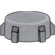 "1"" Thread to 3/4"" Nylon Hose Savers - Cap"