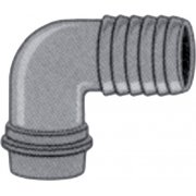 "1 1/4"" Thread to 1"" Nylon Hose Savers - Elbow"