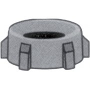 "1"" Thread to 3/4"" Nylon Hose Savers - Nut"