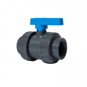 "4"" PVCu Industrial Double Union Ball Valve (Threaded)"