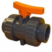 "1/2"" ABS Industrial Double Union Ball Valve"
