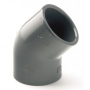 110mm PVCu Plain Elbow 45 Degree