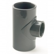 110X50mm PVCu Plain Reducing Tee
