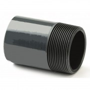 "1/2"" ABS Plain / BSP Threaded Barrel Nipple"
