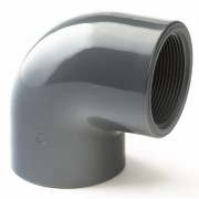 "75mm x 2.1/2"" Plain / BSP Threaded Elbow 90 Degree"