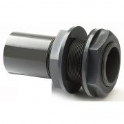 "1/2"" ABS Plain / BSP Threaded Tank Connector"