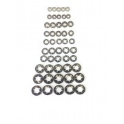 50 Piece Assortment Genuine Starlock Washer For Metric Round Shaft